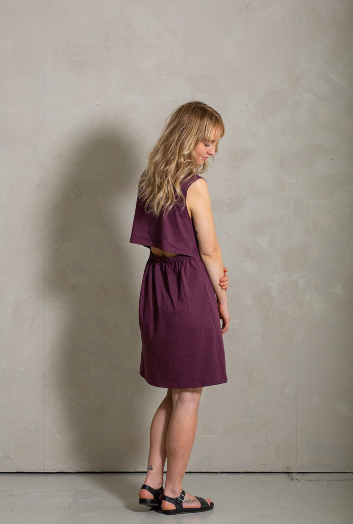 Ariel Midi Dress - Almandine - MORICO