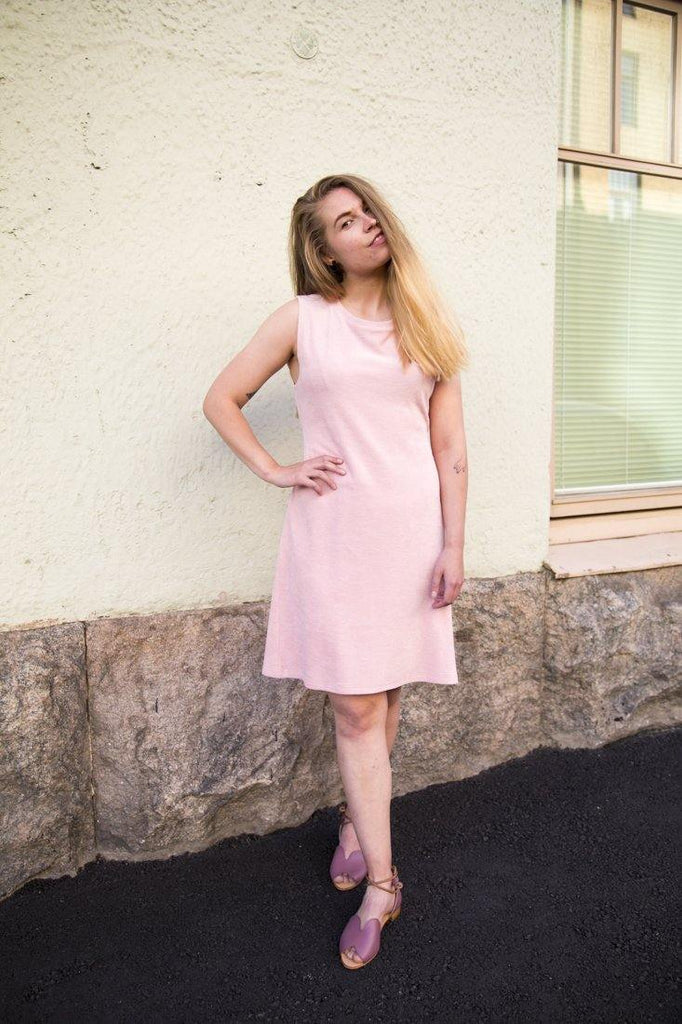 Ariel Midi Dress - Rose Quartz