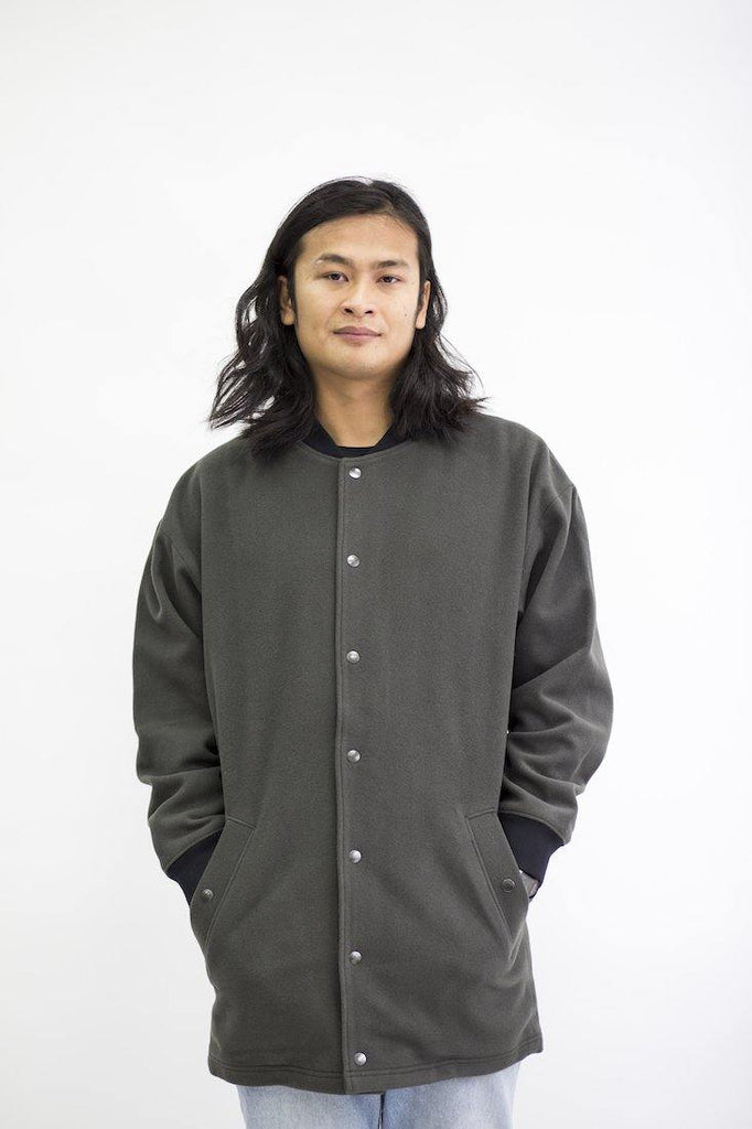 Try on our sustainable clothing Jacket Mori Jacket - Ash Green - MORICO