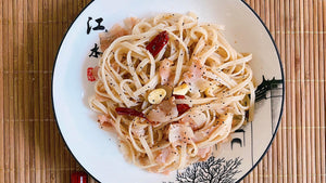 Pui's Chili Garlic Pasta with Bacon