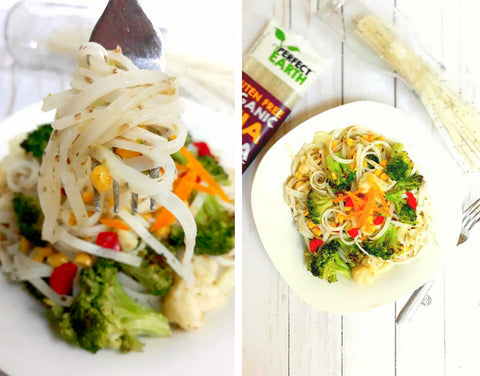Chia Noodle and Veggie Stir Fry