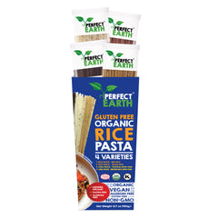 Perfect Earth Gluten Free Organic Rice Pasta – Variety 4 Pack