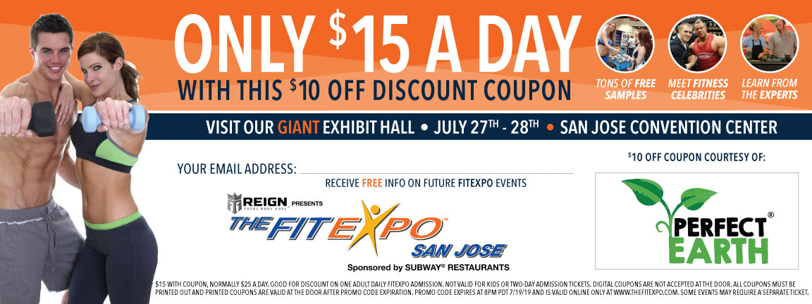 Perfect Earth Fit Expo Coupon 2019