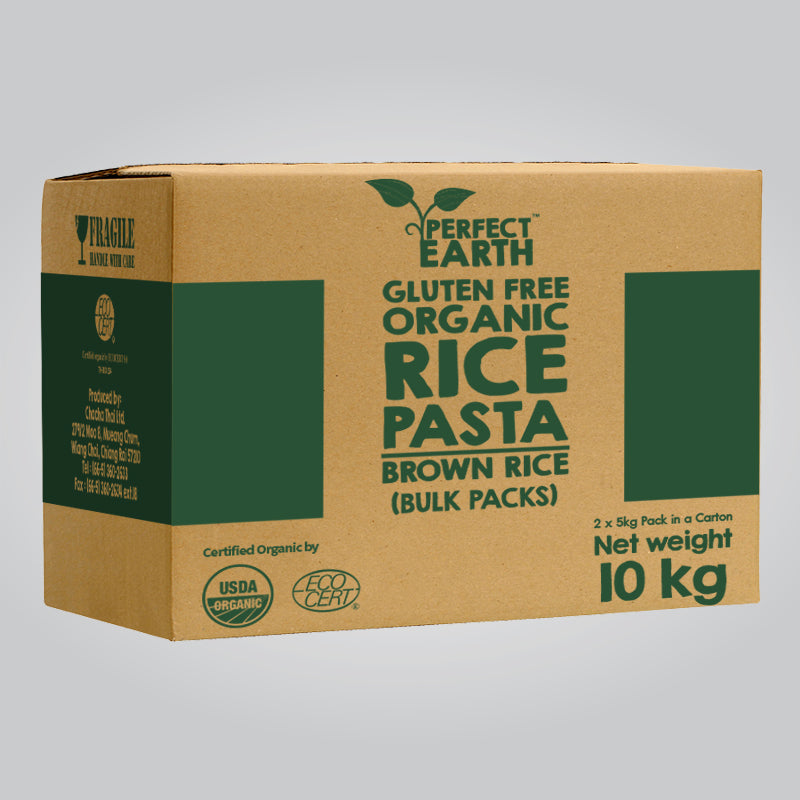 Perfect Earth Organic Rice Pasta - Brown Rice - Bulk Packs 10kg