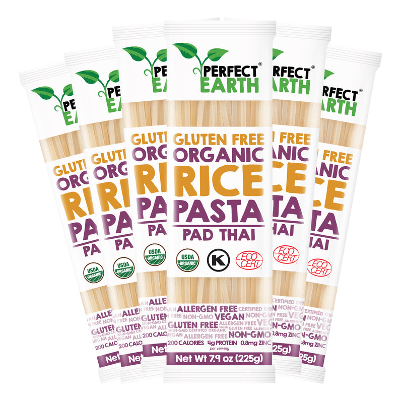 Perfect Earth Organic Rice Pasta - PadThai - 6 Packs of 225g