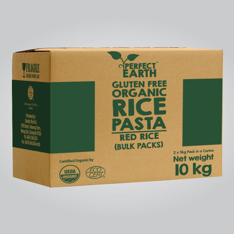 Perfect Earth Organic Rice Pasta - Red Rice - Bulk Pack 10kg
