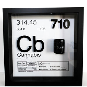 "710 Labs x This is Addictive 20"" x 20"" x 4"" Collectors Art Piece"