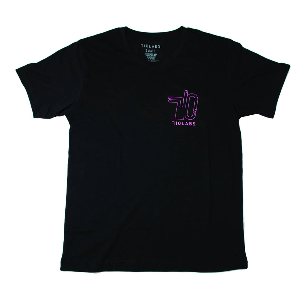 Black Icon T-shirt with Pink Logo