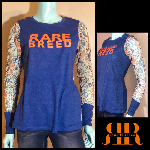 RARE BREED Mesh Sleeve Top