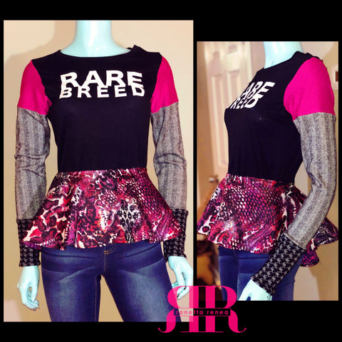 RARE BREED Mix Fabric Top