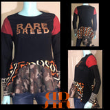 RARE BREED Mix Fabric Peplum top