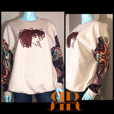 Wild Fro Mix Fabric Sweatshirt