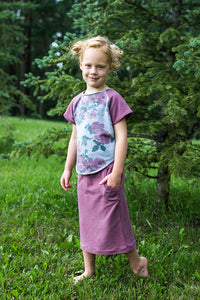 Heathered Mauve Bamboo Skirt
