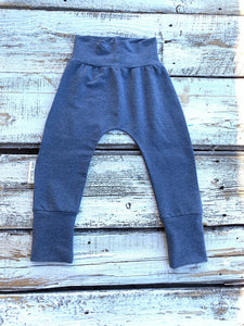 Heathered Lake Blue Bamboo Joggers-French Terry