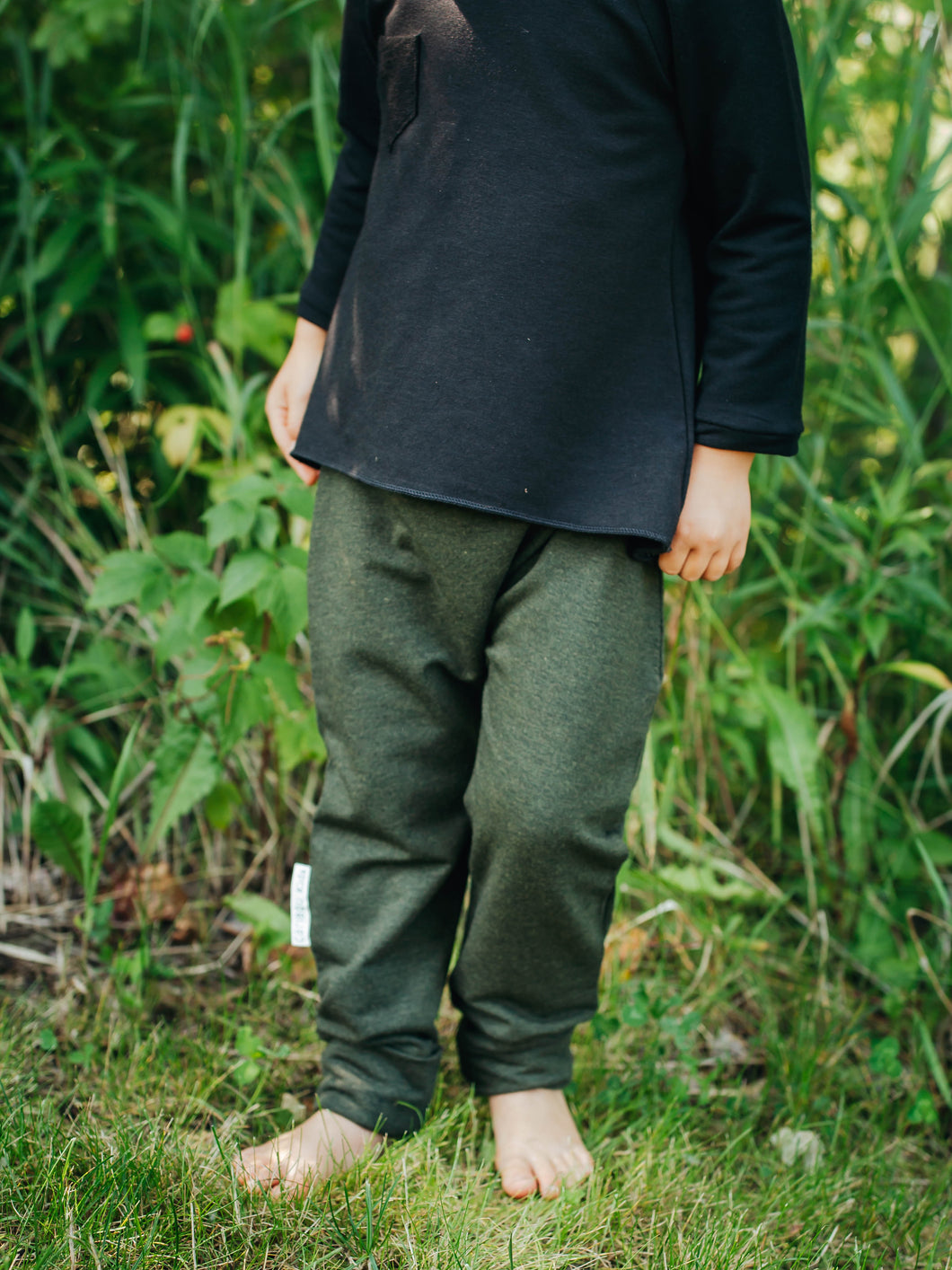 Heathered Forest Green Bamboo Joggers