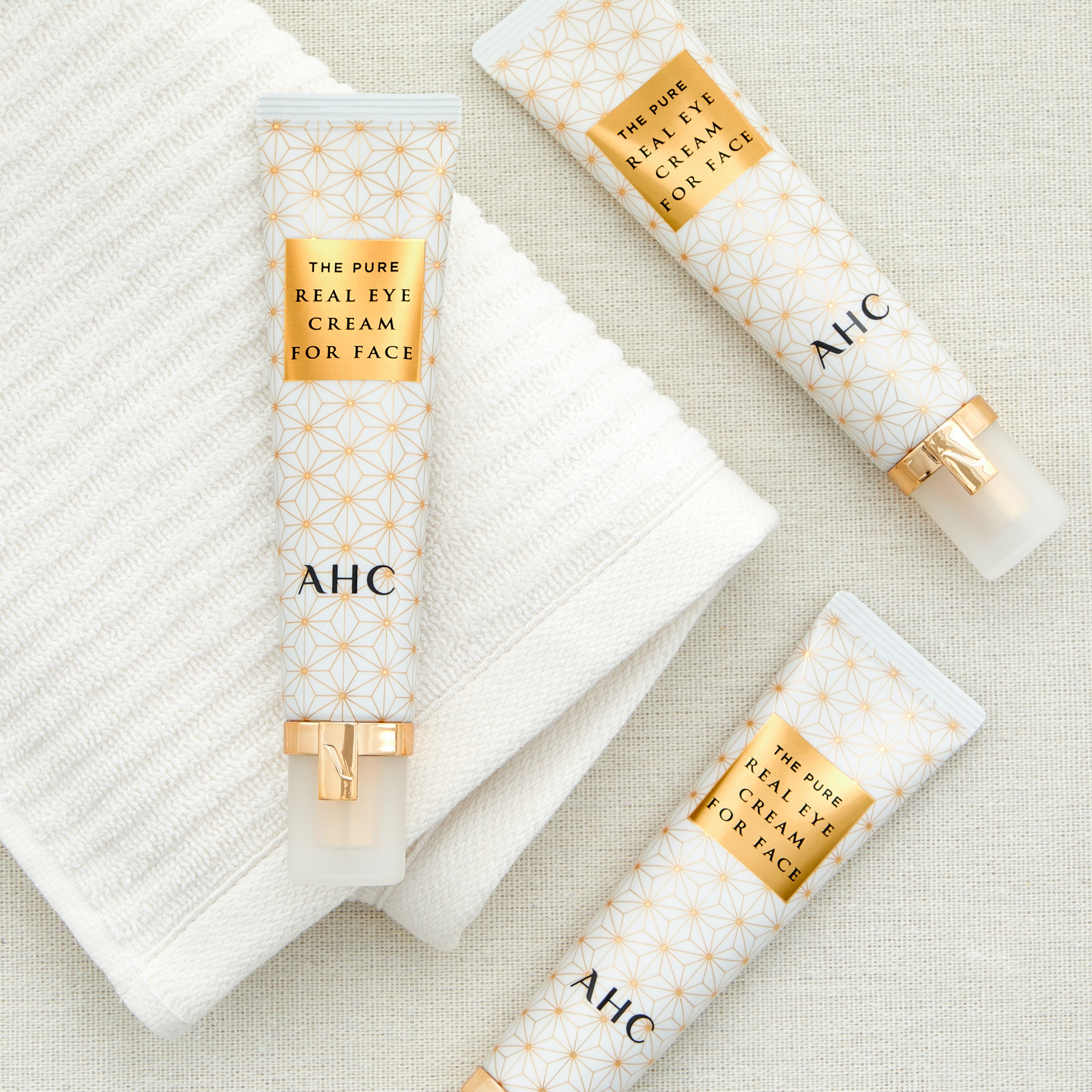 AHC the pure real eye cream for Face pack shot with a white background