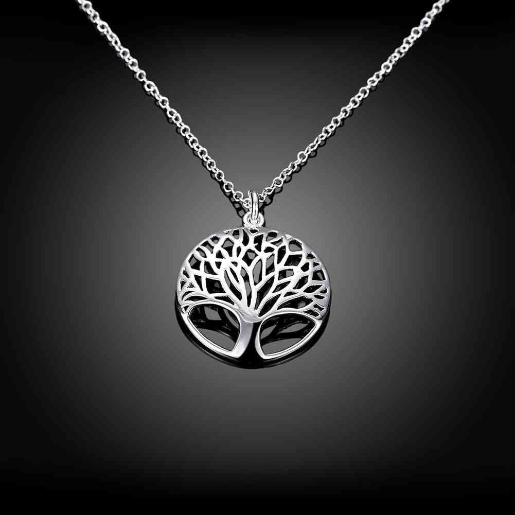 The tree of life silver color necklaces & pendants