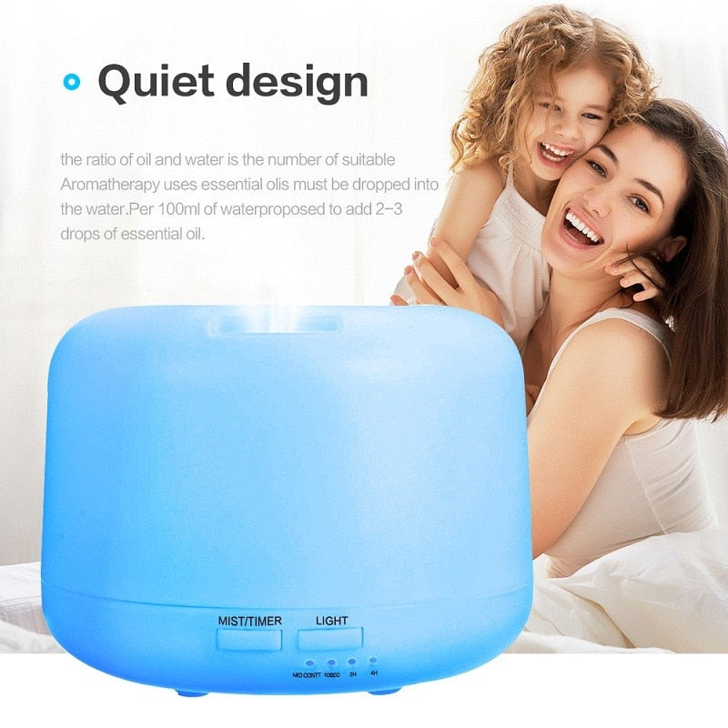 Ultrasonic Aromatherapy Humidifier & Essential Oil Diffuser W/LED Light