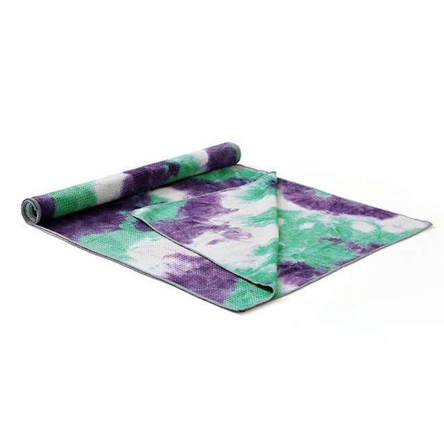 Unique Tie Die Non Slip Yoga Mat Towel Blanket