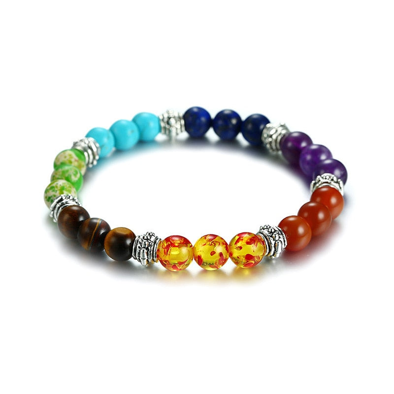 7 Chakra Mixed Stone Bracelet For Healing