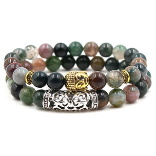 2Pcs/Set Natural Stone Buddha Bracelets & Bangles Yoga Jewelry