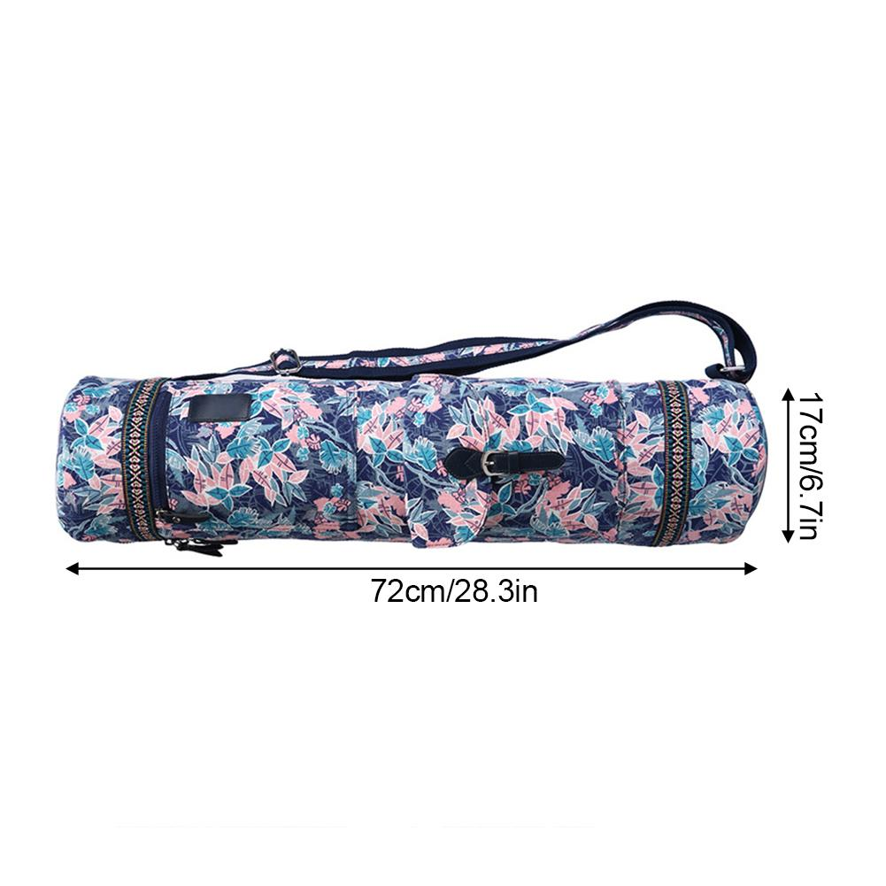 Multifunctional Leaves Yoga Mat Bag Sports Backpack Exercise Bag Fitness Gym Shoulder Bag Women Girls Dance Pilates Mat Package
