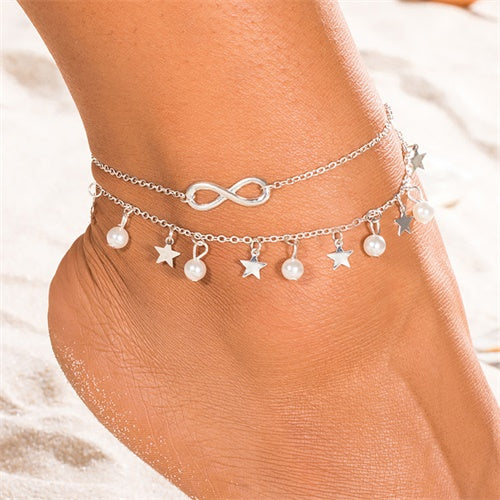 Star Pendant Anklet Charm Chain