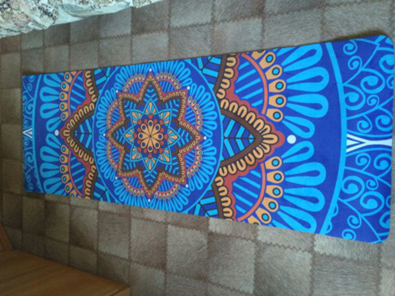 5 MM Lotus Pattern Non-slip Suede TPE Yoga Mat