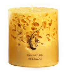 Beeswax Coral Candle