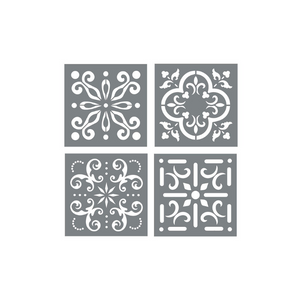 Mexican Print Inspired Tile Stencils