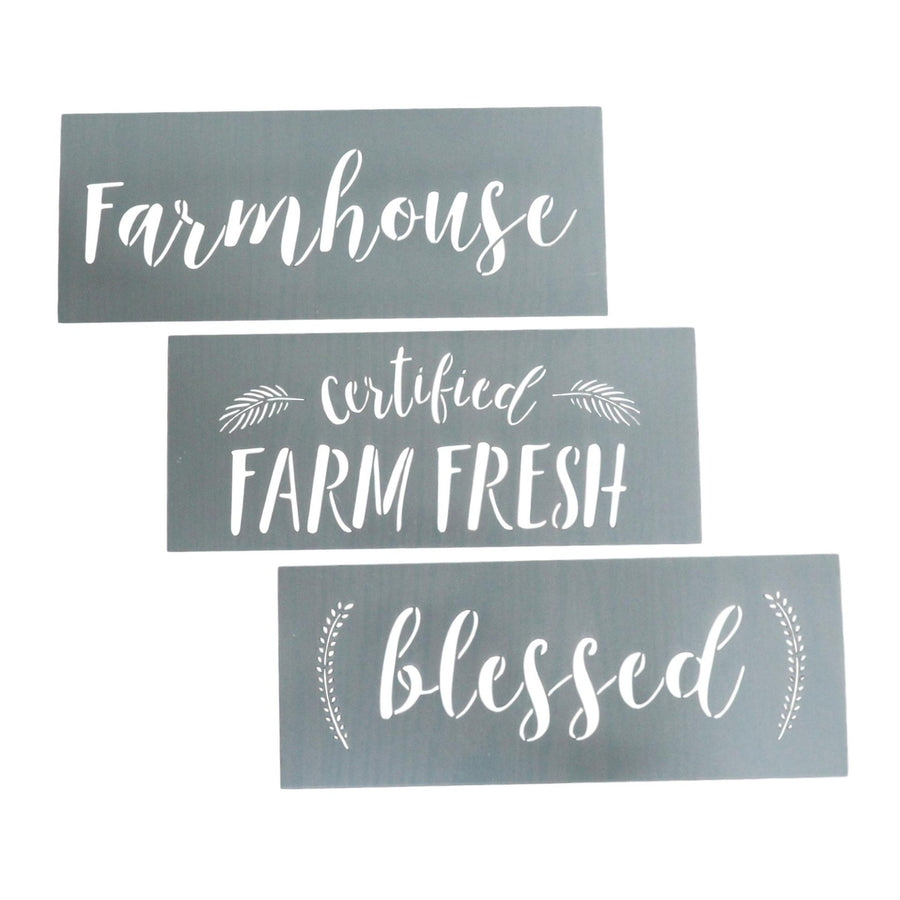 Country Home Word Stencils