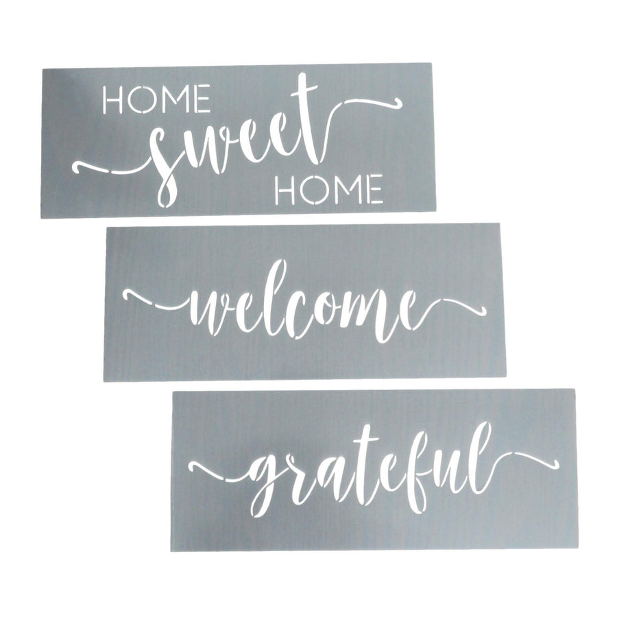 Happy Home Word Stencils
