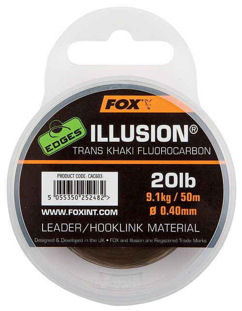 Fox Edges Illusion Fluorocarbon Leader Hooklink