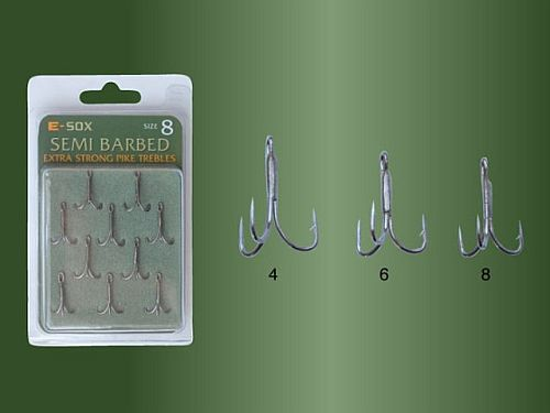 Drennan E Sox Semi Barbed Trebles