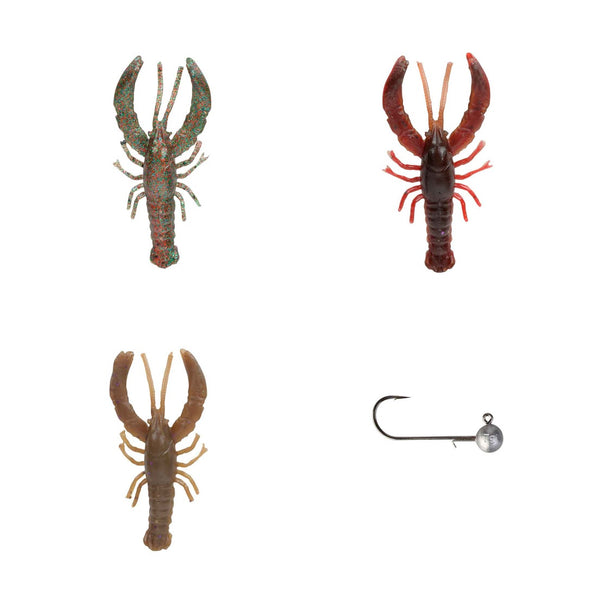 Savage Gear 3D Reaction Crayfish 5.5cm 4 Piece Kit