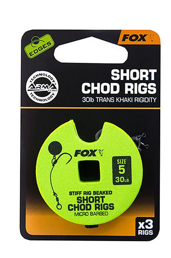 Fox Edges Chod Rigs Short Barbed