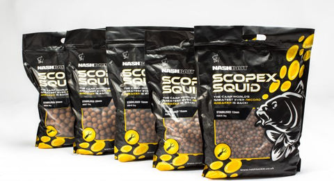 Nashbait Scopex Squid Boilies Stabilised 1kg
