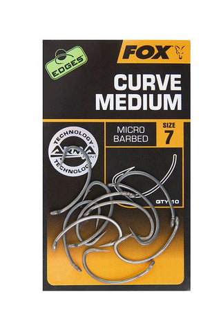 Fox Edges Curve Medium Hooks