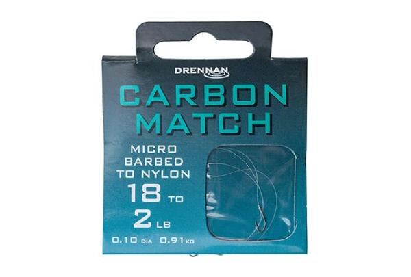 Drennan Carbon Match Barbed Hooks to Nylon