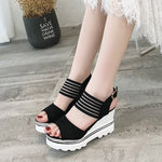 OBBVY-Wedge Platform Casual Sandals