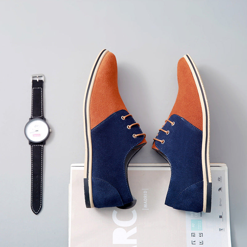 OBBVY-Suede Casual Leather Shoes Size EU38-50
