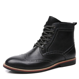 OBBY-Bullock Retro Carved Trend Martin Boots Size EU38-47