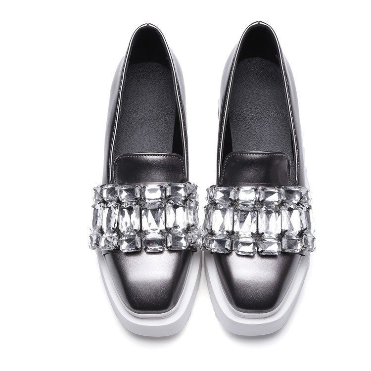 OBBVY-Fashion Luxury Rhinestone Loafers Size EU34-43