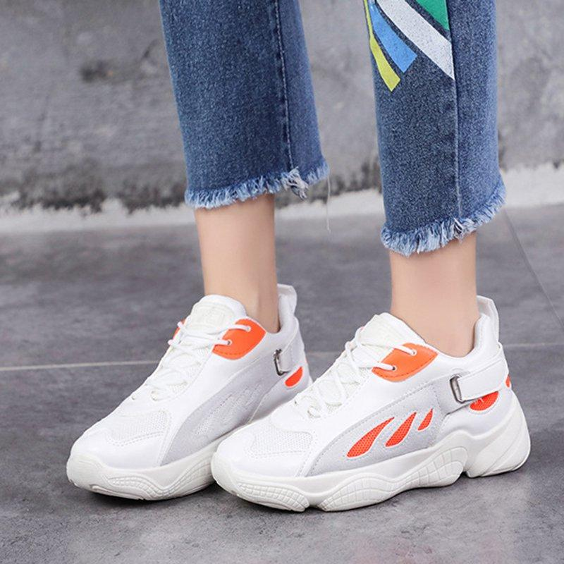 OBBVY-Harajuku Mesh Breathable Clunky Sneaker