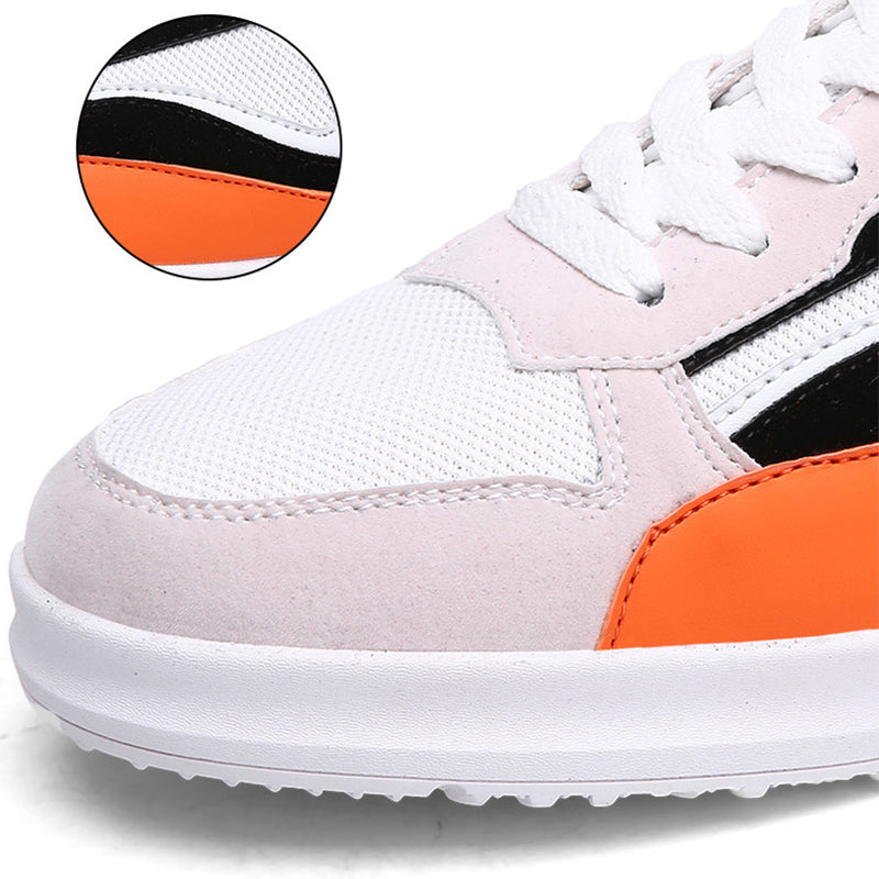 OBBVY-New Fashion Color Matching Low-top CanvasShoes Breathable Soft Sneakers Trend Men's Shoes