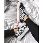 OBBVY-Harajuku Plaid Sneakers