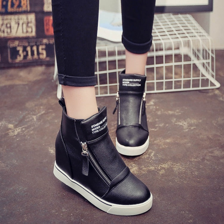 OBBVY-Casual Women's Wedges Side Zipper Booties