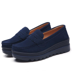 OBBVY-Women's Platform Penny Loafers Shoes
