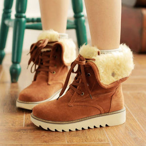 OBBVY-Scrub Laced Boots Snow Booties