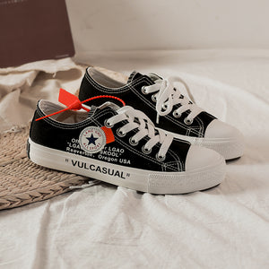 OBBVY-Ulzzang Harajuku Style Flat Canvas Shoes